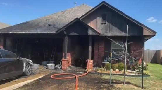 house fire on Northwood Village Dr.