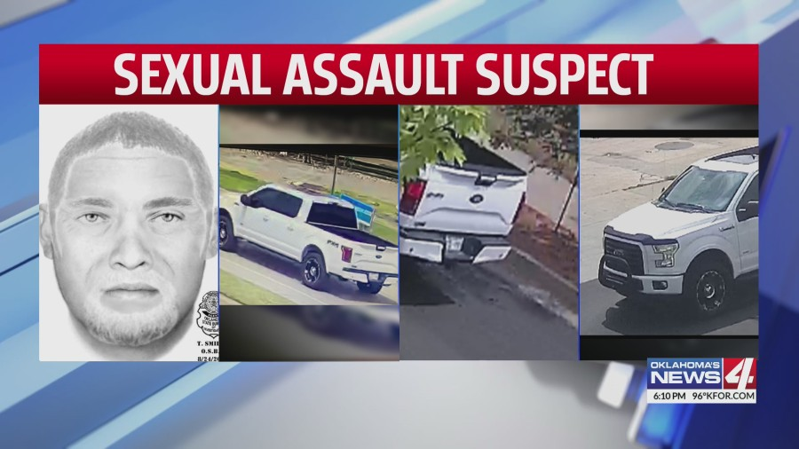 Composite sketch and vehicle surveillance photos of sexual assault suspect
