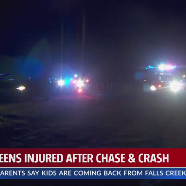Teens injured in chase