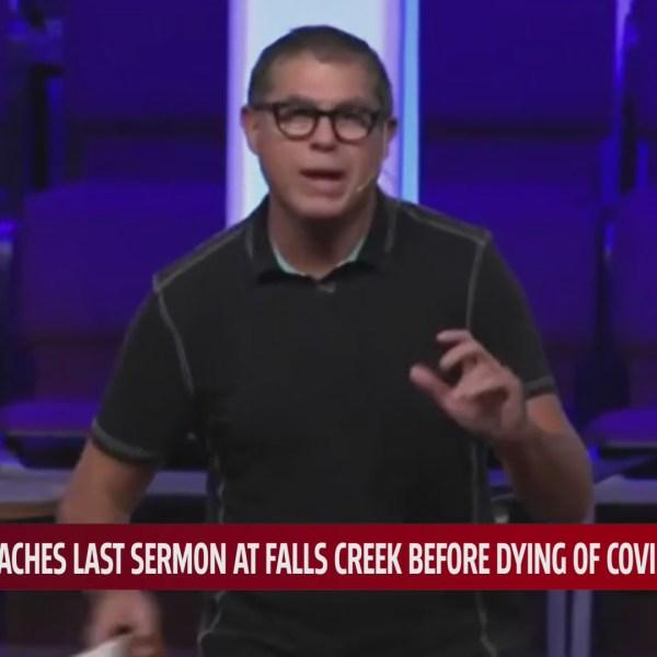 Reverend Wade Morris preaching