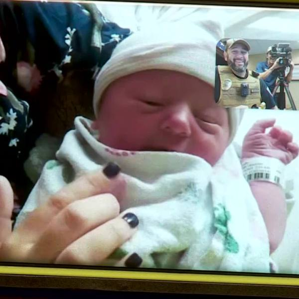 Baby born in Luther