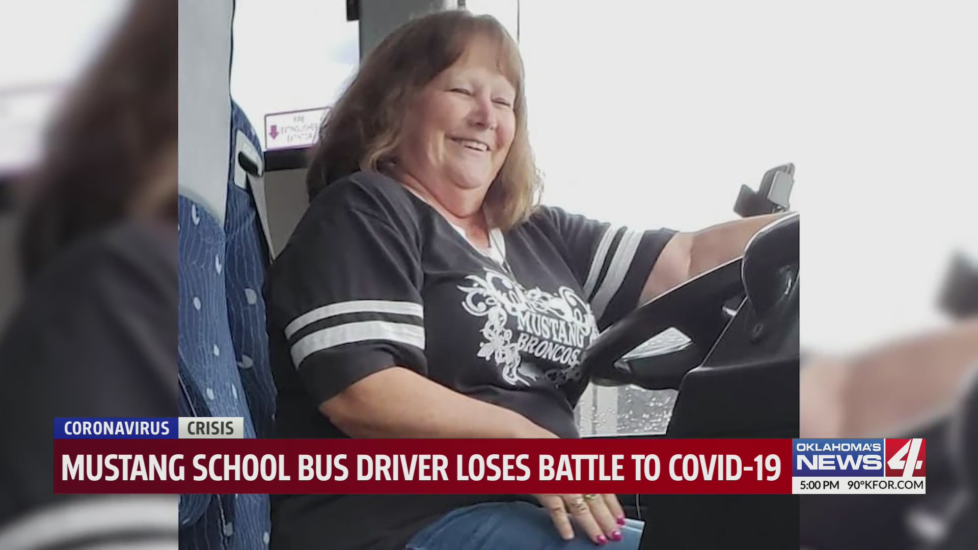 Photo of Mustang Public Schools bus driver Tammy Hutchison