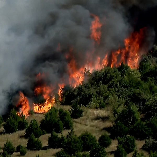 grassfire in northern logan county