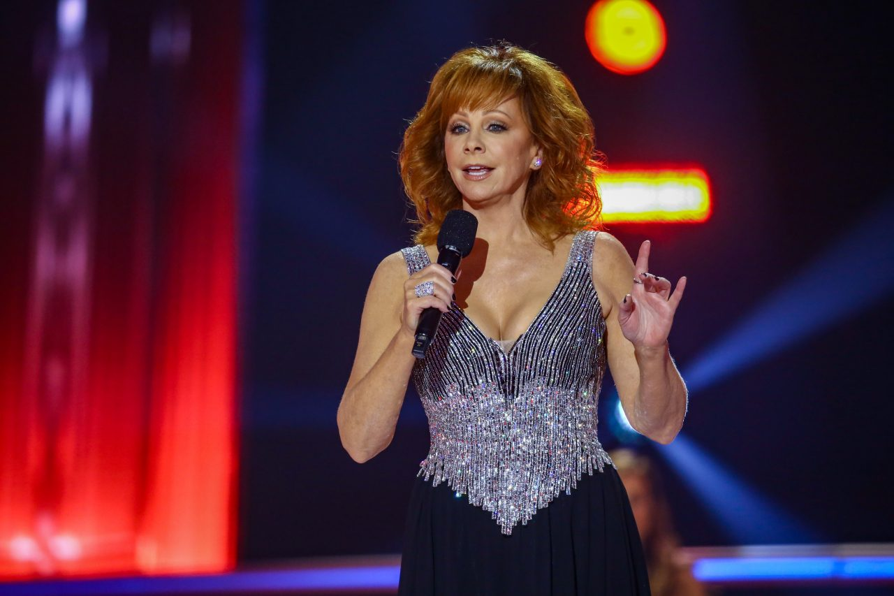 Reba McEntire speaks onstage during the The 54th Annual CMA Awards at Nashville's Music City Center on Wednesday, November 11, 2020 in Nashville, Tennessee. (Photo by Terry Wyatt/Getty Images for CMA)