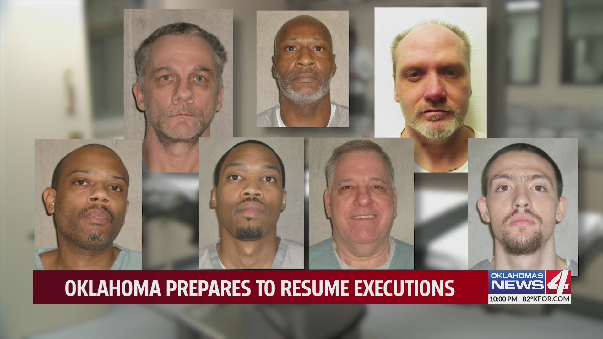 Mugshots of the seven death row inmates scheduled to be executed in late 2021/early 2022