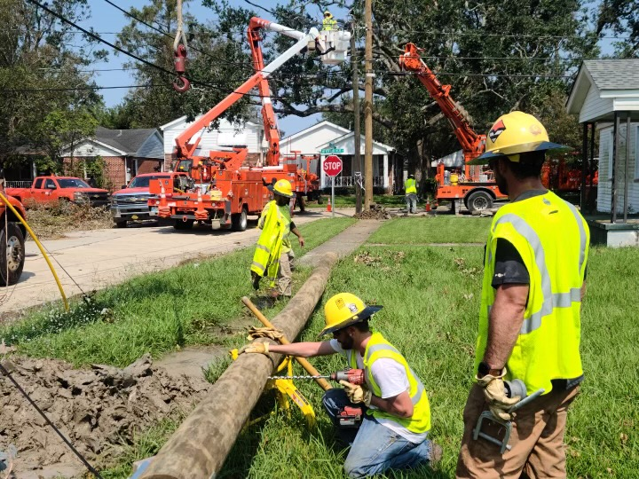 OG&E restoring power in Louisiana