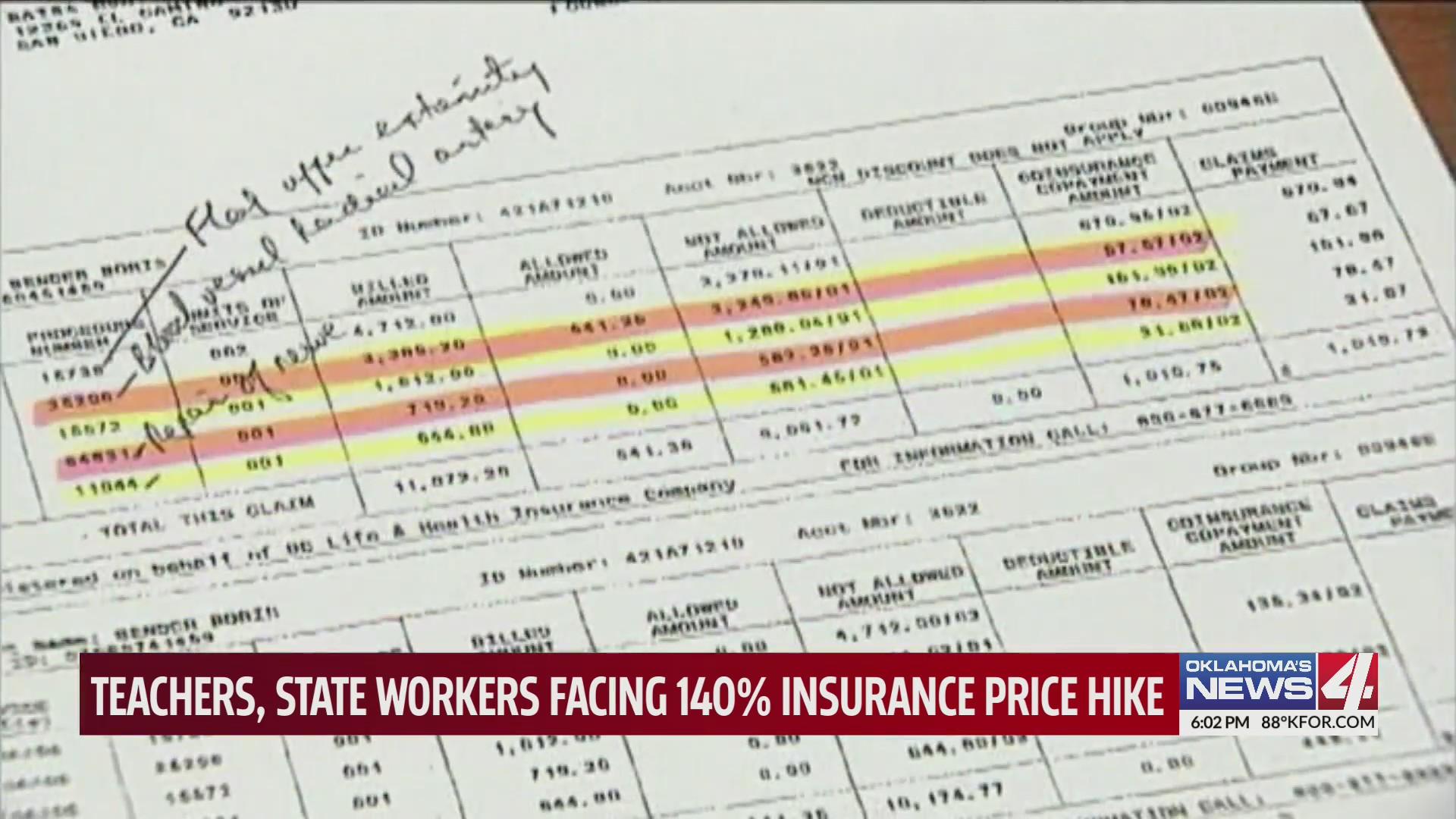 Insurance bill shows breakdown of fees