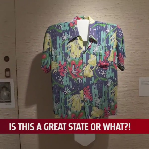The History of the Aloha Shirt exhibit at the Mabee-Gerrer Museum in Shawnee