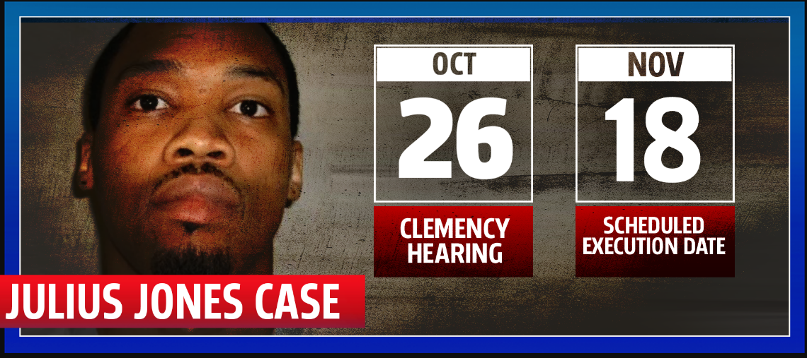 Julius Jones clemency hearing date and execution date