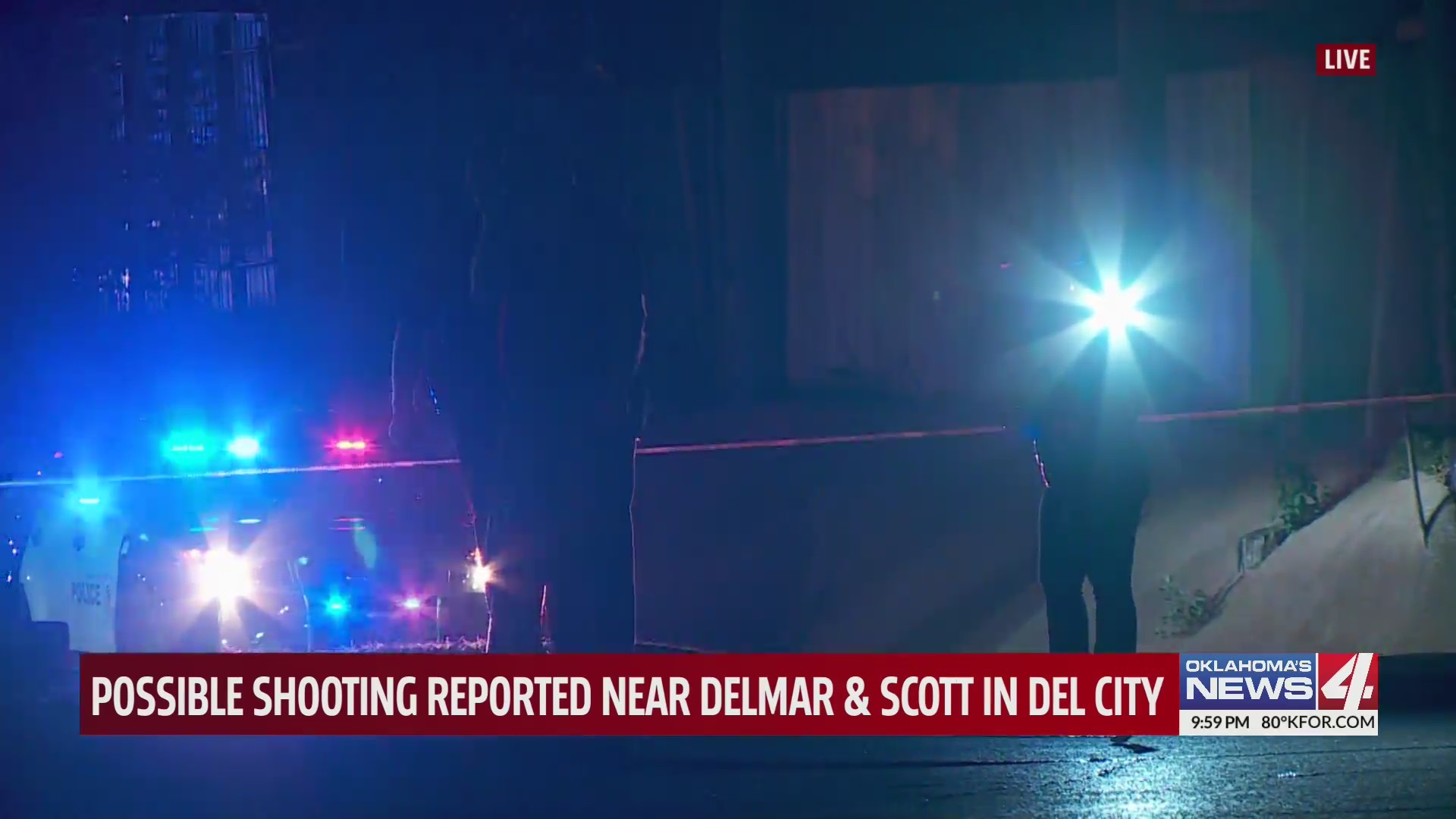 Del City police investigating a reported shooting.