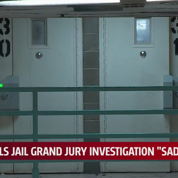 Two cell doors inside the Oklahoma County Correctional Center