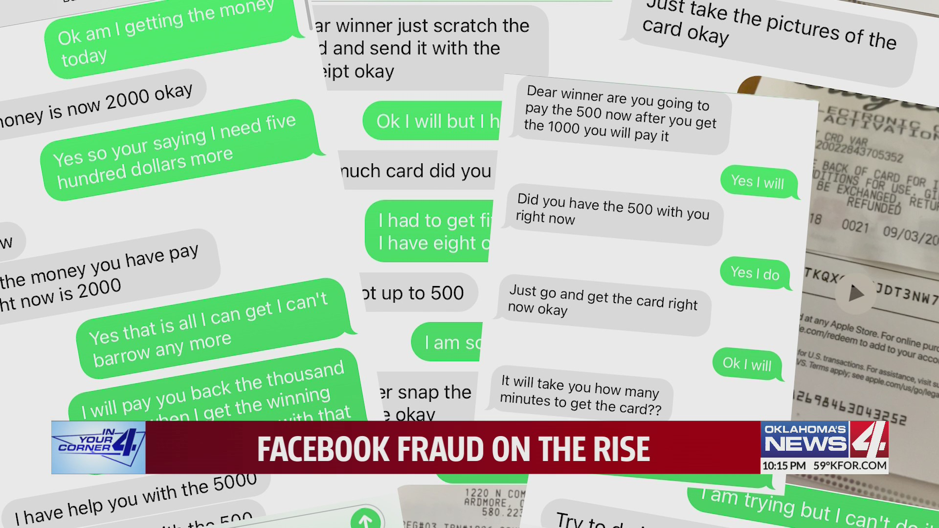 Facebook scammers asking for google play cards