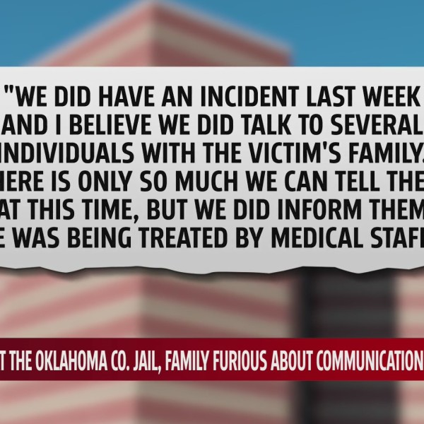 Local family says relative stabbed over 30 times at Oklahoma County Detention Center, claims jail staff didn't notify them