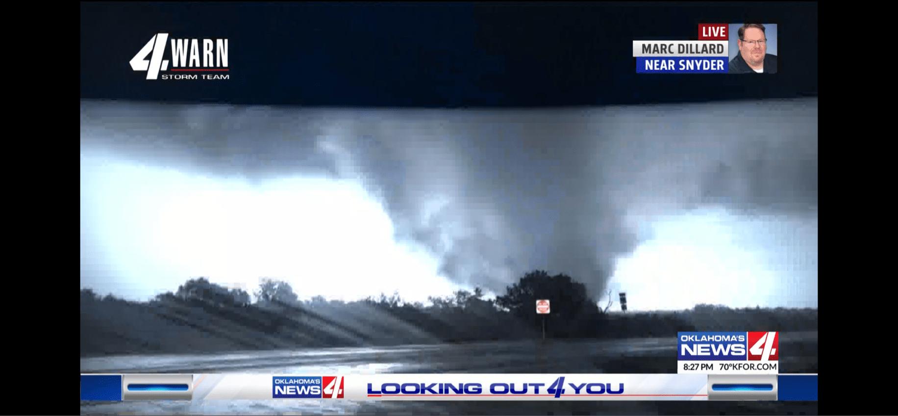 A tornado near Snyder.