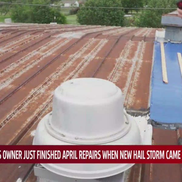 Roof damage in Norman