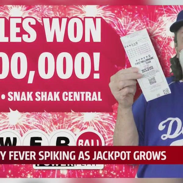 Oklahoma Powerball graphic congratulating $2 million winner, Charles