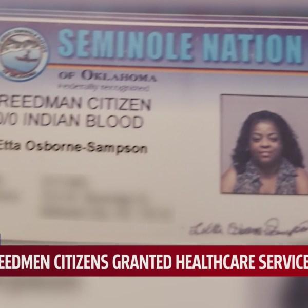 LeEtta Osborne's Seminole Nation Freedmen card