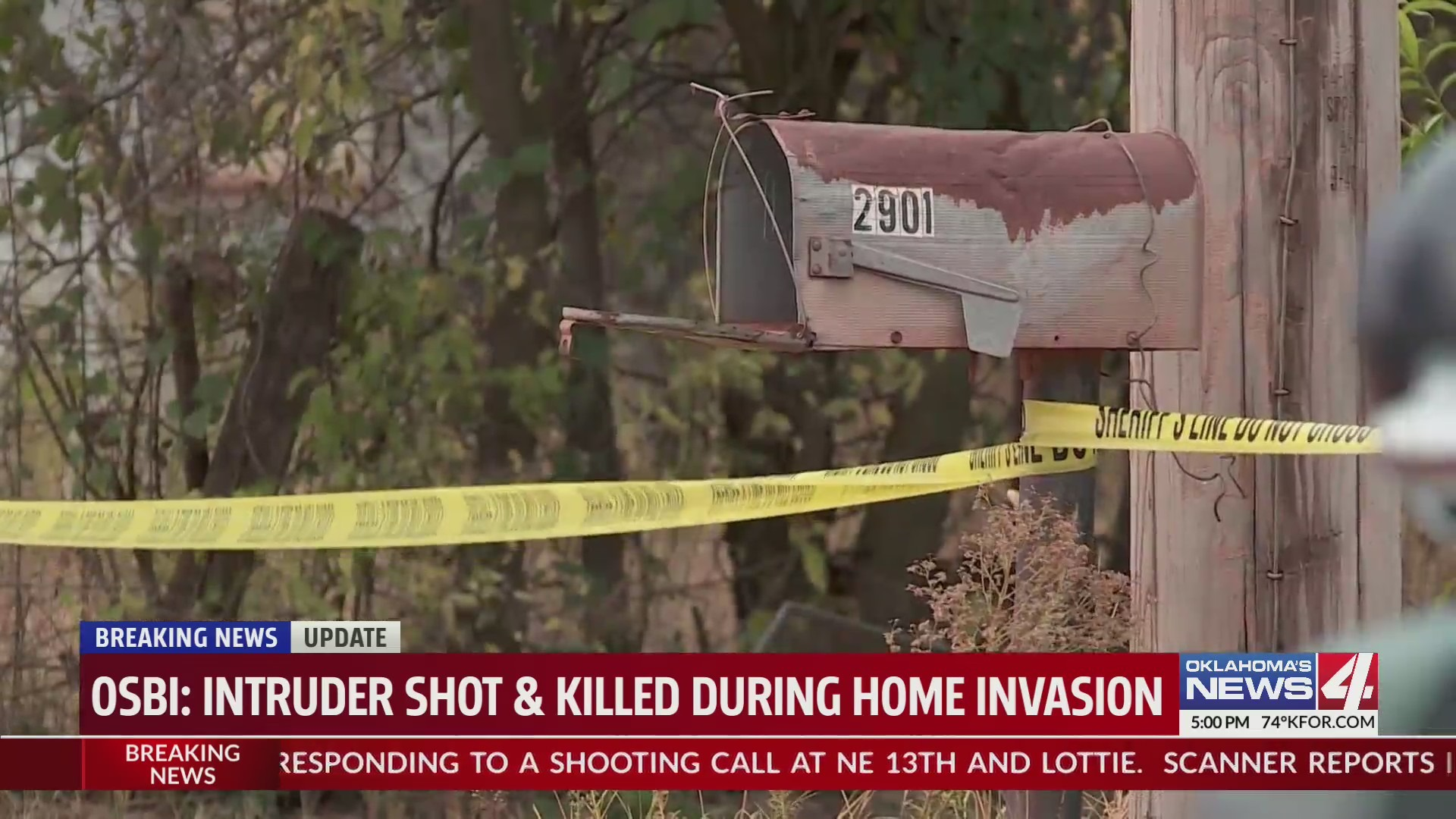 A Guthrie-area burglary ended with one of the two suspects shot and killed.
